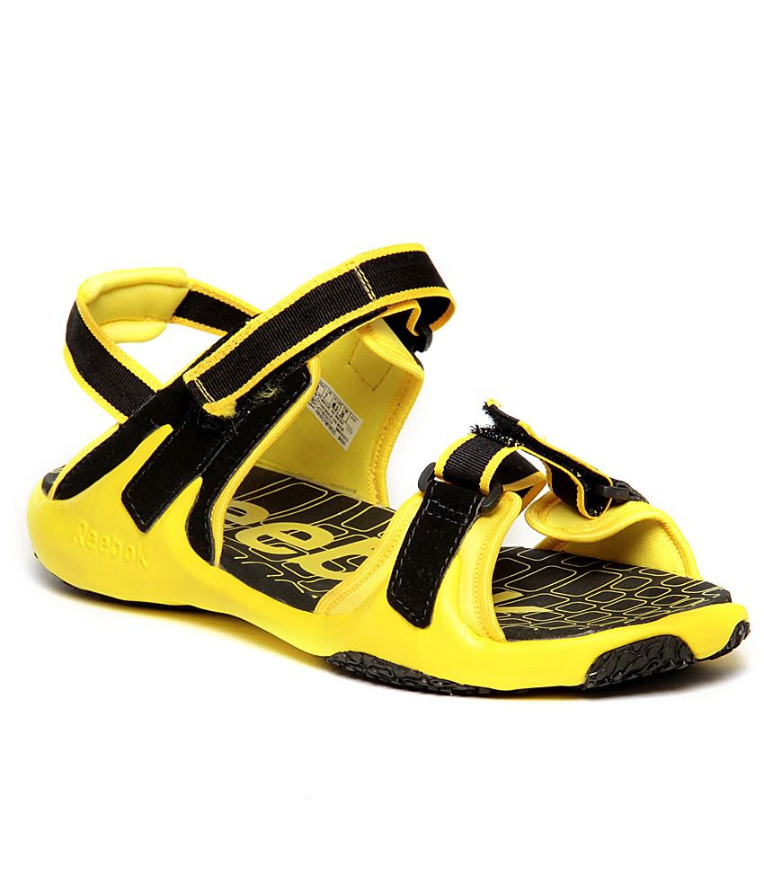 27741934f Reebok Adventure Grail Lp Black   Yellow Floater Sandals - Buy ...