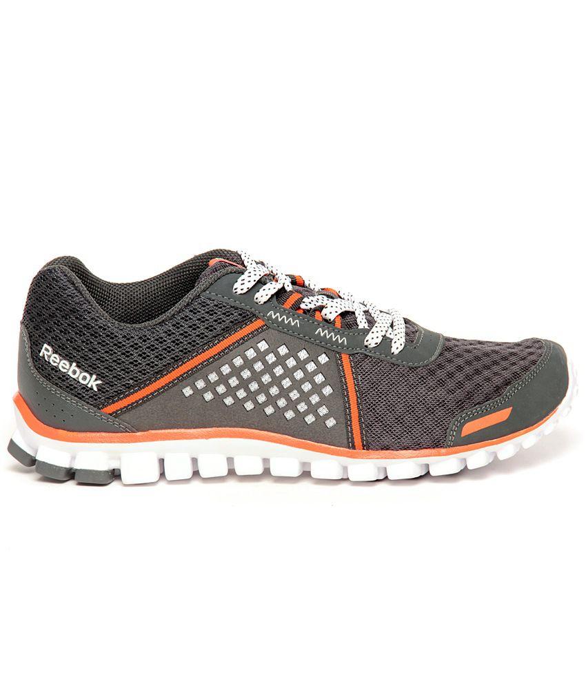half off 9834d 2c92c ... Reebok RealFlex Scream 4.0 Grey   Orange Running Shoes ...