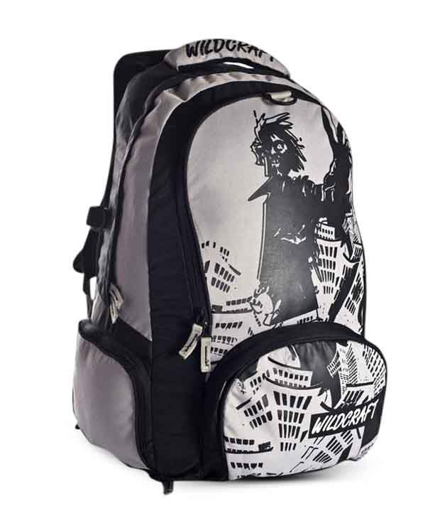 Wildcraft Graphic White Blue Sport Backpack
