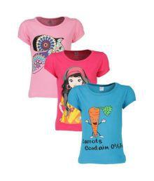 Goodway Junior Girls Stye-6- Pink, Turq, Fushia Combo Pack of 3
