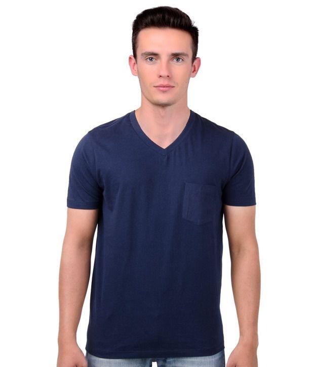Freecultr Navy V-Neck T Shirt