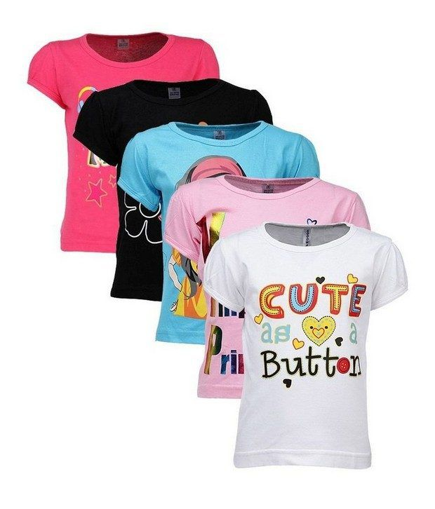 Goodway Attitude Themed Pack Of 5 T-Shirts For Girls