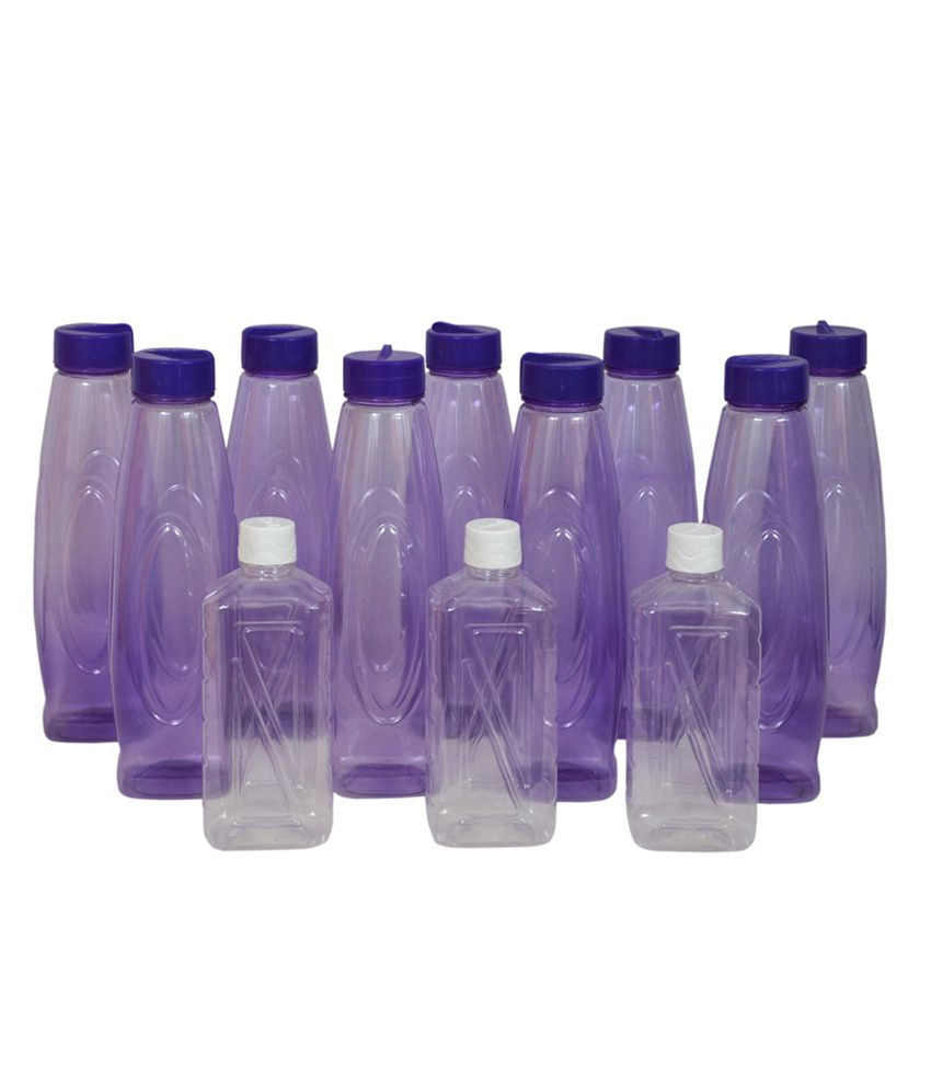 Pearl Pet Awesome Oval Water Bottles Set (12 Pcs)  available at snapdeal for Rs.467