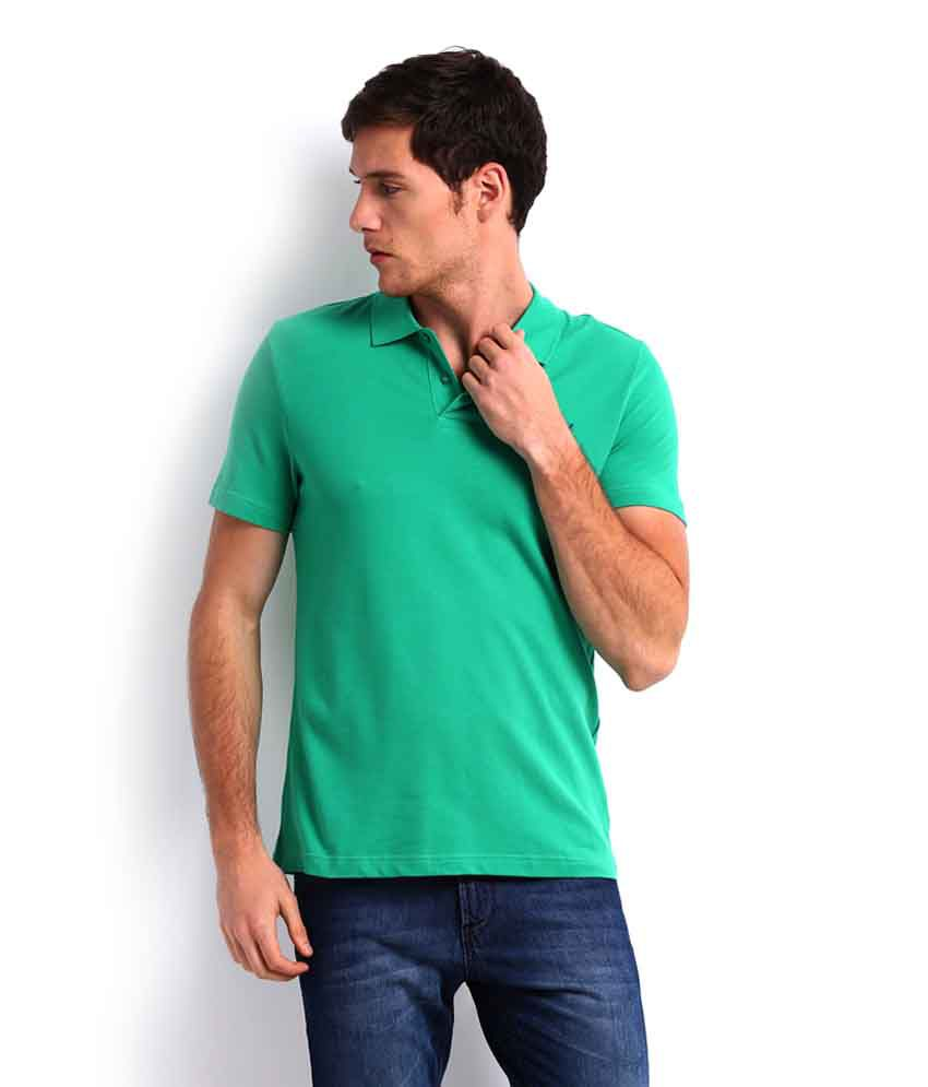 Puma Green Ess Polo T Shirt