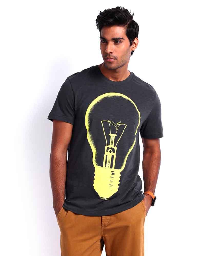 Puma Grey Bulb Printed T Shirt