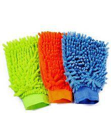 Auto Trends - AutoDouble Sided Micro fiber Premium Mitt Gloves - 3 Pcs Set