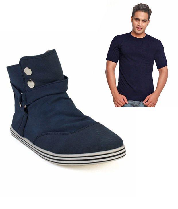 Cefiro Blue Canvas Shoes - Buy Cefiro