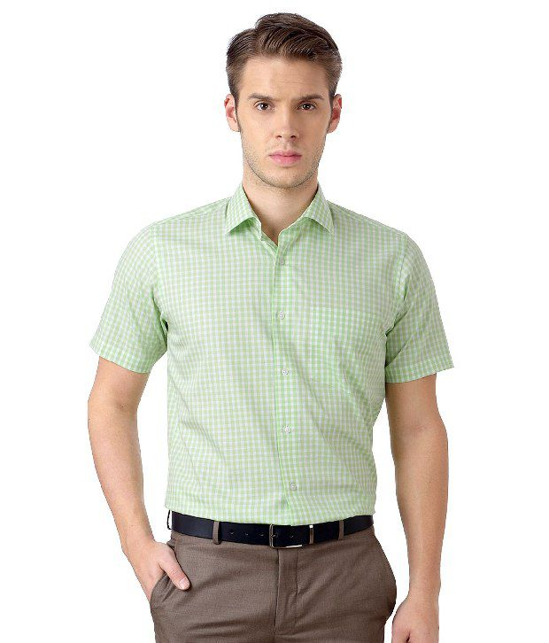 b29b72acd1 Van Heusen Green Formal Checkered Half-Sleeves Shirt - Buy Van Heusen Green  Formal Checkered Half-Sleeves Shirt Online at Best Prices in India on  Snapdeal