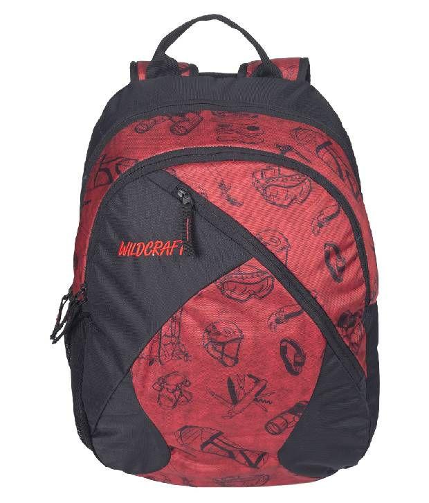 90de3295b080 Wlidcraft Stride EQ Red School Bag - Buy Wlidcraft Stride EQ Red School Bag  Online at Low Price - Snapdeal