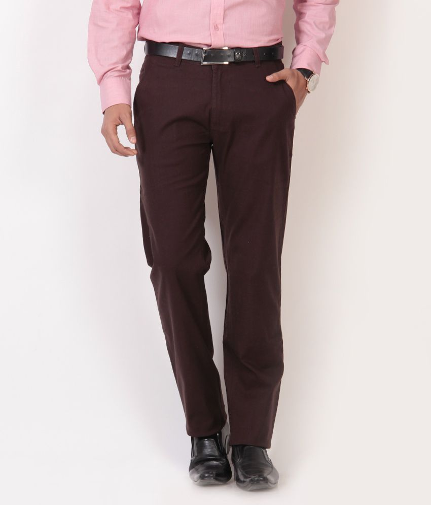 British Terminal Coffee Linen Lycra Chinos