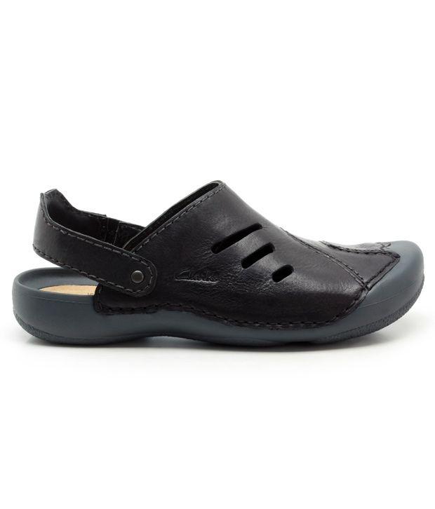 f4e6eb2e0f Clarks Wild Vibe Black Leather Sandals