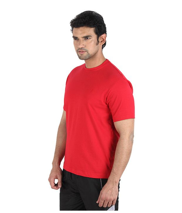 Proline Enticing Red Solid T-Shirt