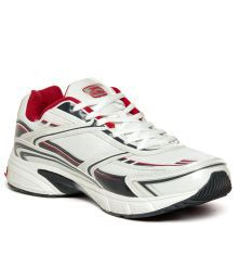 Slazenger Nevada White & Red Running Shoes