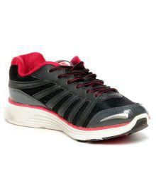 Slazenger Spencer Black & Red Running Shoes