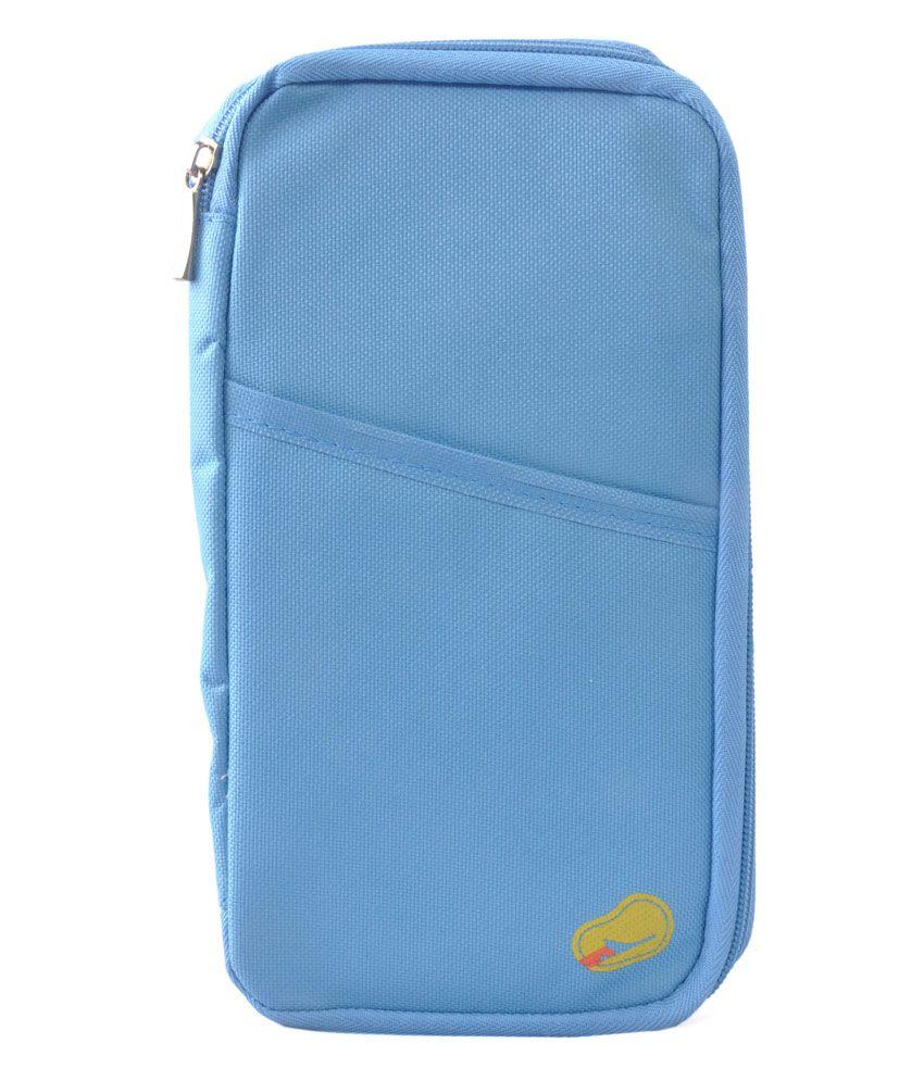 Mangalam - Passport Pouch/ Passport Wallet cum holder - Ferozi Blue