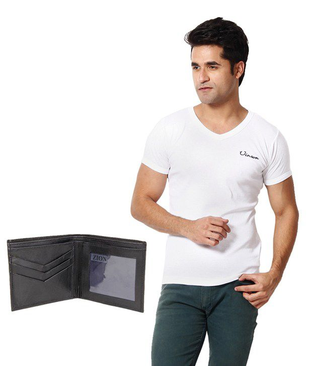 Zion Classic White T ShirtWith Free Wallet