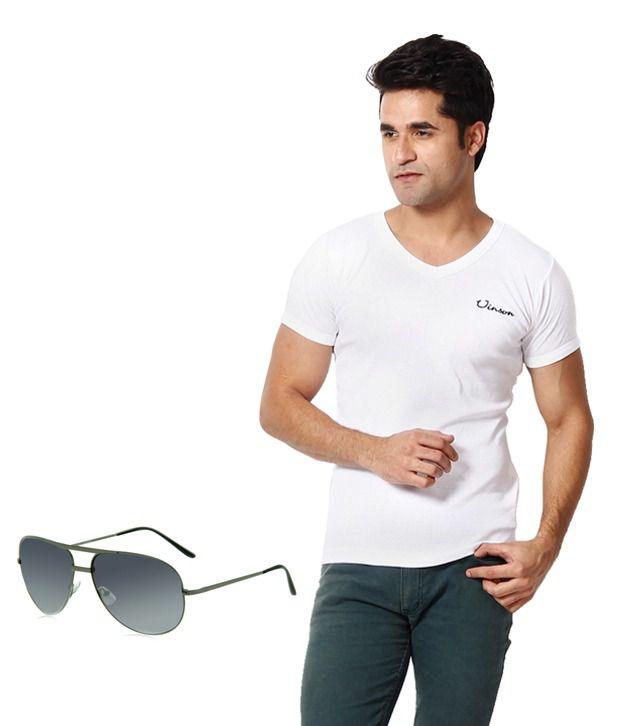 Zion Classic White T ShirtWith Free Sun Glass