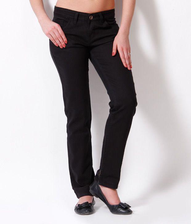 Fashion Cult Black Denim Lycra Jeans