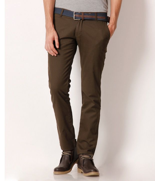 Fever Green Fashionable Chinos