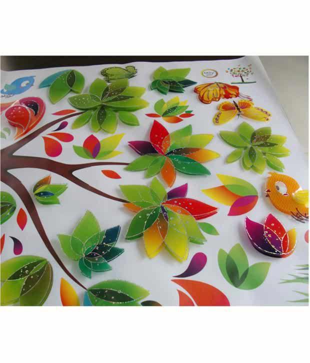 syga 3d tree wall sticker - buy syga 3d tree wall sticker online at