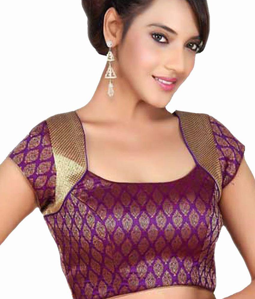 87e5420bc6592d Samyakk Dark Purple Designer Blouse - Buy Samyakk Dark Purple ...
