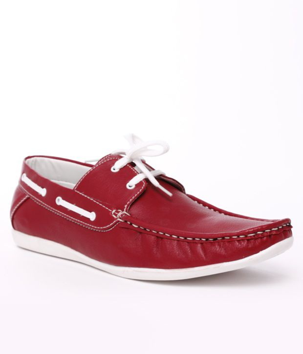 Shoe Island Red Loafers - Buy Shoe Island Red Loafers Online at ...