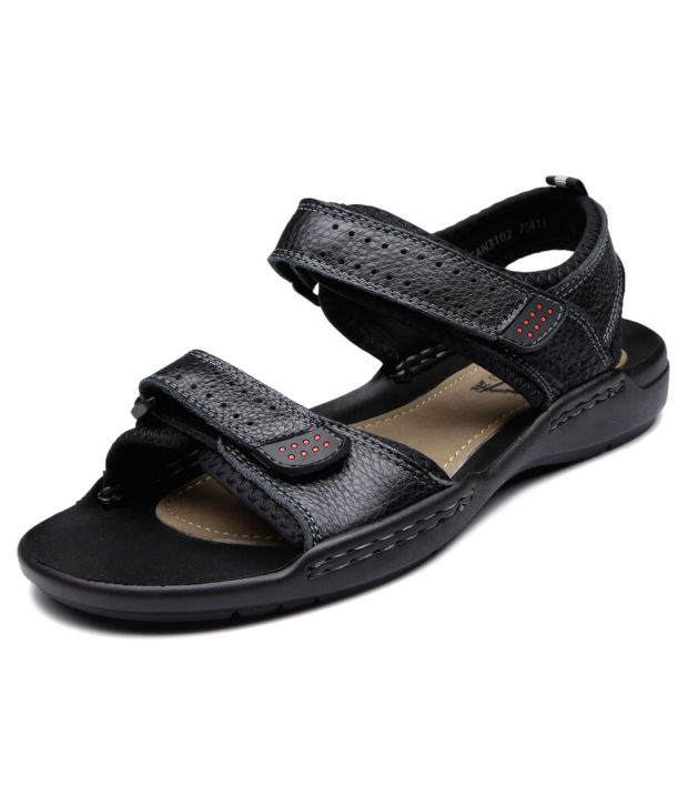 62d84027e75 Pavers England Black Men Pure Leather - Casual Sandals Price in India- Buy Pavers  England Black Men Pure Leather - Casual Sandals Online at Snapdeal