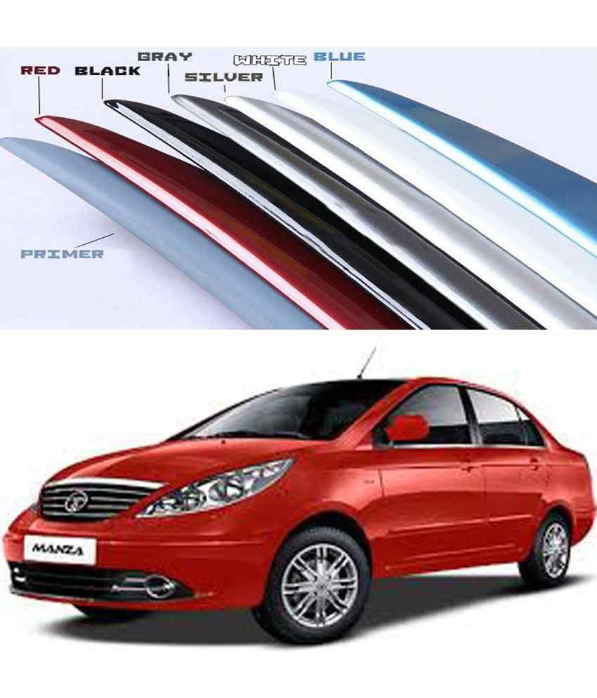 shopper s hub car body coloured spoiler tata manza laser red rh snapdeal com