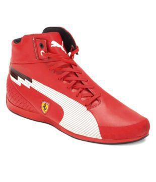 Puma Men Red Evospeed Ferrari Shoes