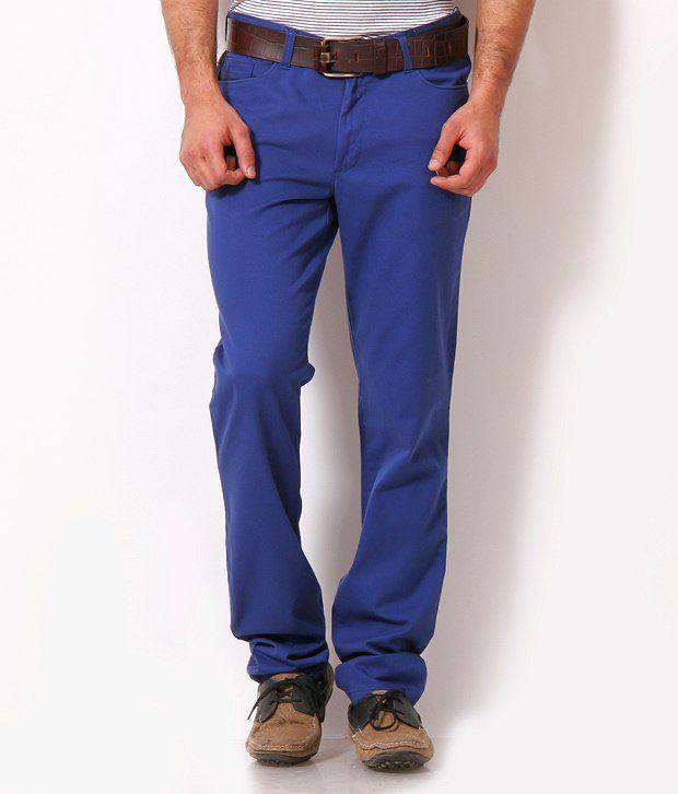 John Players Fashionable Royal Blue Trousers