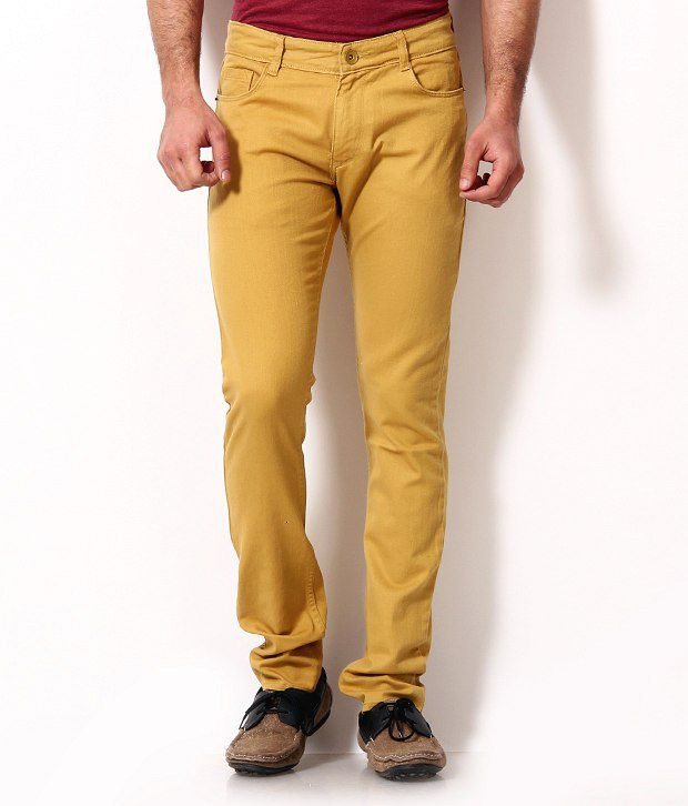 John Players Notable Yellow Jeans