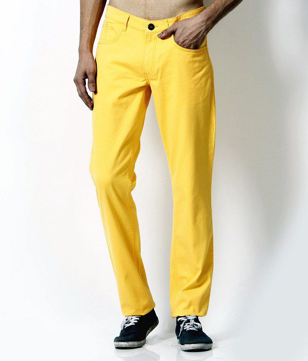John Players Trendy Yellow Trousers