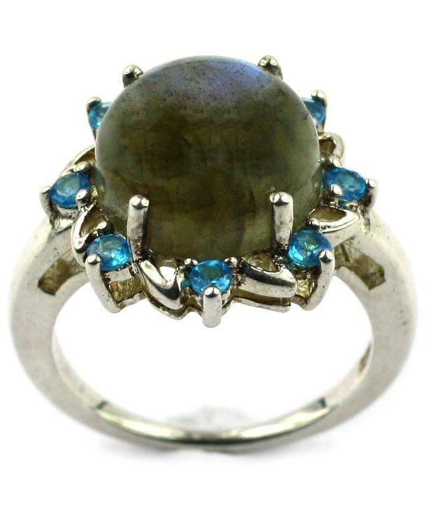 LEBRADORITE & Neoan Appatite Silver Ring