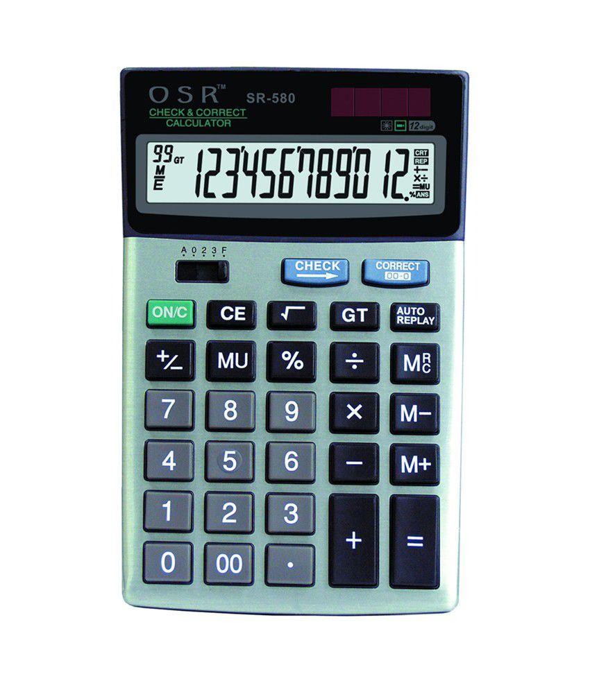osr basic calculator sr 580 buy online at best price in. Black Bedroom Furniture Sets. Home Design Ideas