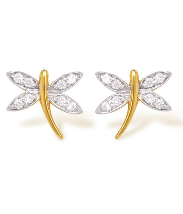 18Kt Hallmarked Gold 1.91 Grams Contemporary Earrings By FFF