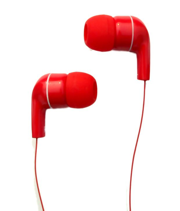 Red earphones with diamond - earphones with microphone in india