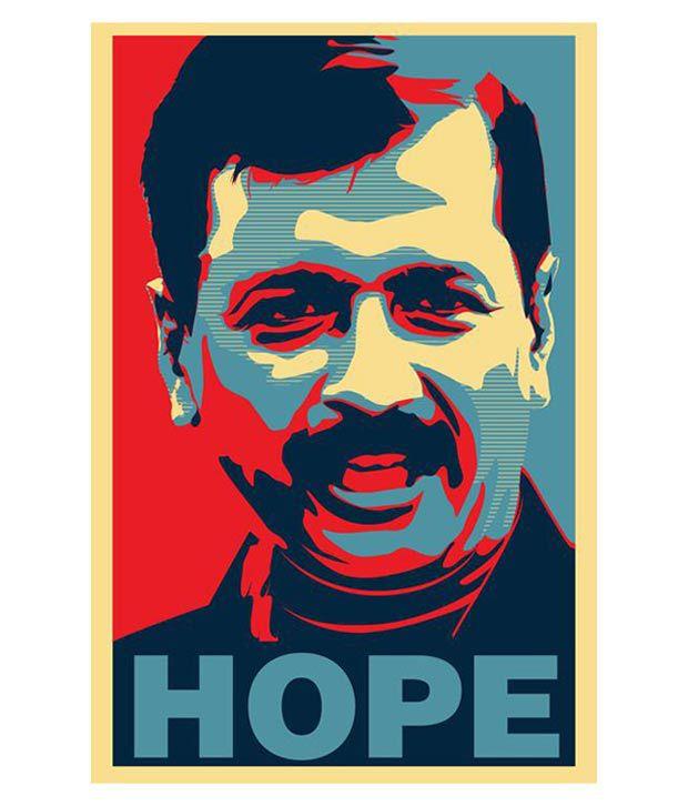 Bluegape AAP Kejriwal Hope Poster: Buy Bluegape AAP
