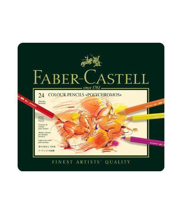 faber-castell polychromos pencils colored (sets) set of 24