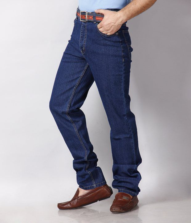 HDI Commendable Navy blue Jeans with Free Sunglasses
