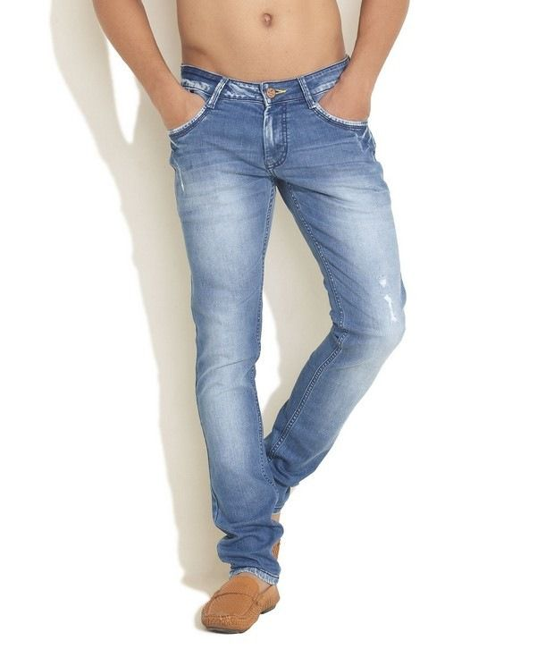 HDI Dazzling Sky Blue Jeans with Free Sunglasses