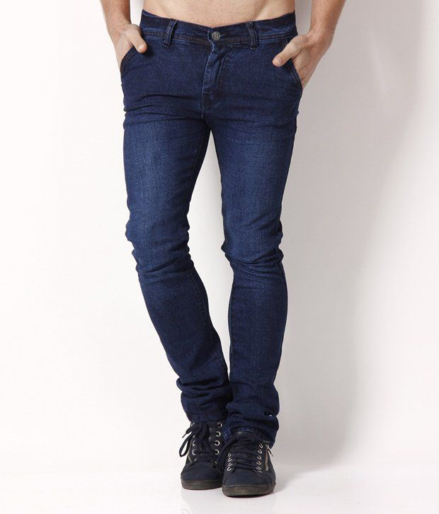 HDI Elegant Navy Blue Jeans with Free Wallet