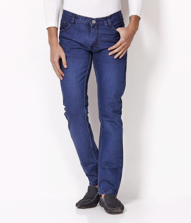 HDI Modish Blue Jeans with Free Sunglasses
