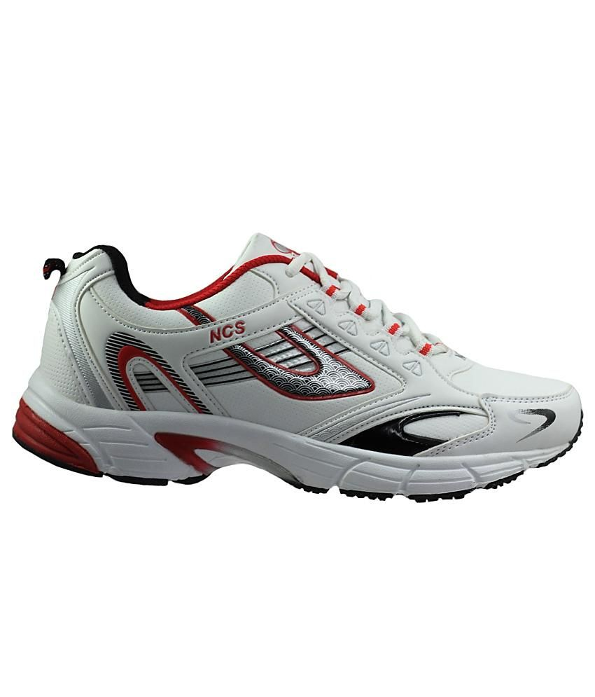 NCS White \u0026 Red Sports Shoes For Men