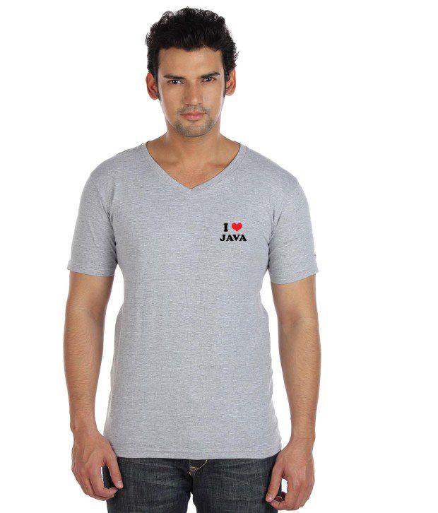 Go Untucked Classic Grey V-Neck T Shirt