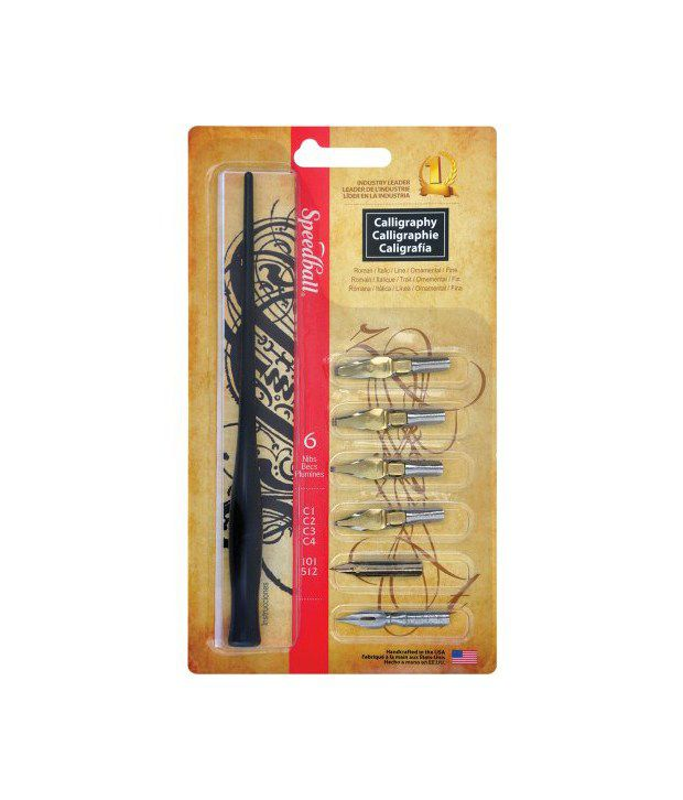 Speedball 6 Nib Lettering Calligraphy Set Buy Online At: speedball calligraphy nibs