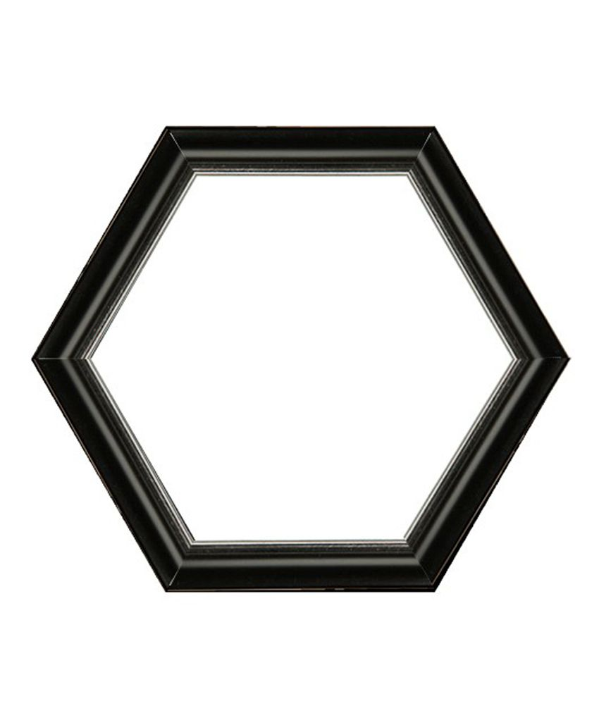 Colophotoshop Hexagonal Photo Frame Coral- 21 Acrylic Glass (5 Inch ...