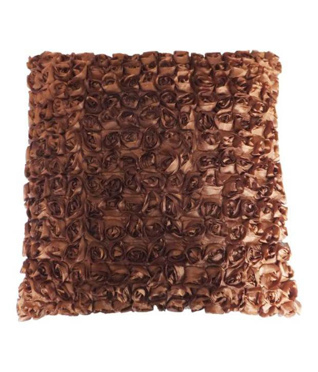 Decorative 3D Small Roses Brown Floral Throw Pillow Cover 17 - Buy Decorative 3D Small Roses ...