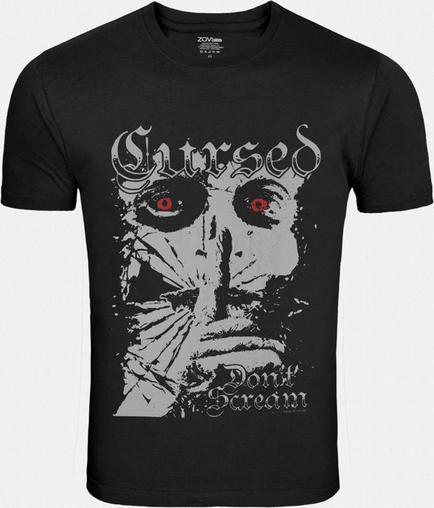 Zovi Exquisite Black Cotton T Shirt