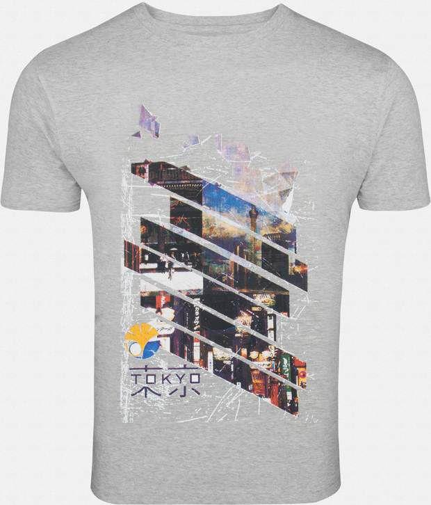 Zovi Rich Grey Printed T Shirt