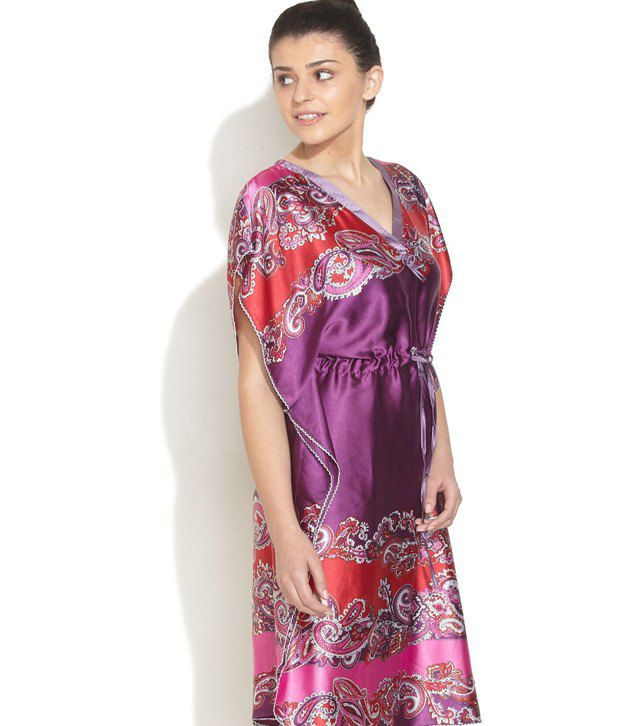 86b85debaf Buy Plums And Peaches Purple Satin Kaftan Online at Best Prices in India -  Snapdeal